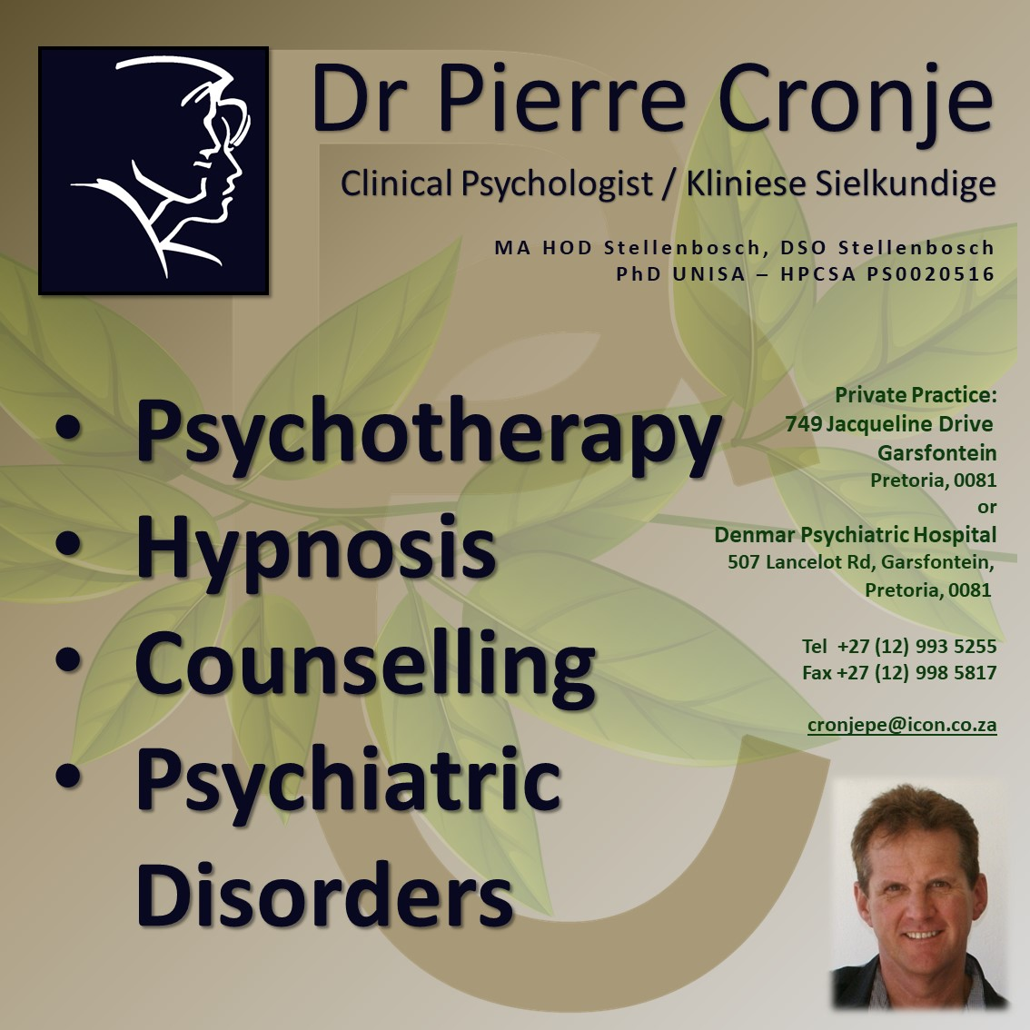 Pierre Cronje Ads